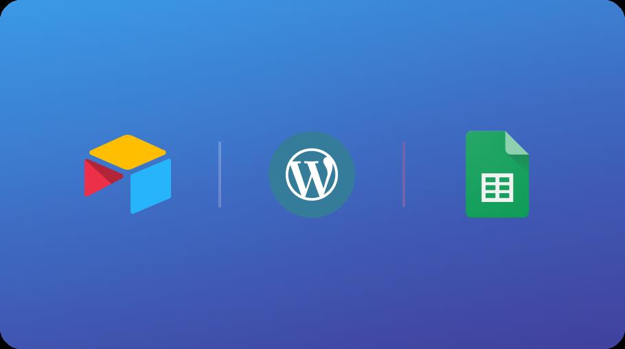 airtable google sheets wordpress hubspot segment google tag manager